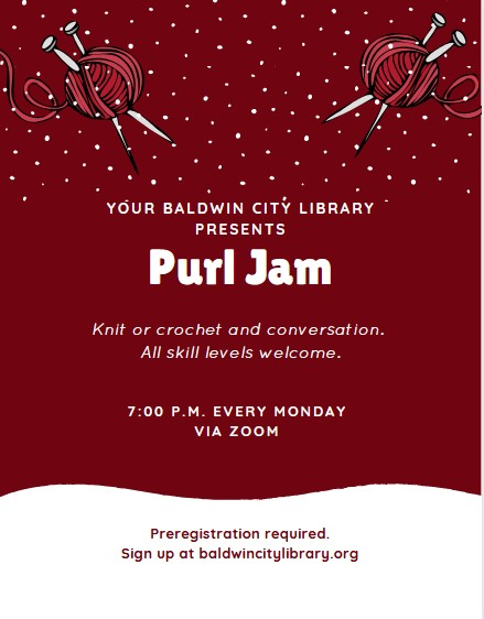 Purl Jam Knitting Group @ Via ZOOM