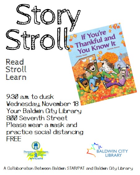 StoryStroll @ Your Baldwin City Library
